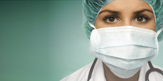 Вирусный маркетинг - Вирусная реклама Врач в Маске Доктор в Форме Хирург Болезнь Вирус Заражение Радиация