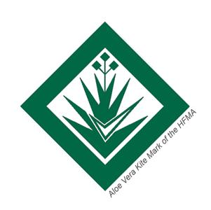 Aloe Vera Kite Mark Seal HFMA Сертификат Международной Организации по Контролю Качества Алоэ Вера Сок Гель Знак Качества Aloe Juice Gel Certificate