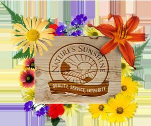 Логотип Nature's Sunshine Products - NSP logo Природные Солнечные Продукты - НСП Эмблема Лого Цветы Весна Ромашки Лето
